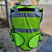 Tac Vest Yellow Dual Front Back