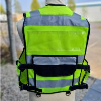 Tac Vest Yellow Security Back