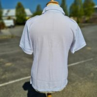 White Polo With Epaul Back